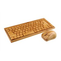 Wholesale Eco friendly healthy fashionalble Wireless Multimedia wooden bamboo keyboard and mouse combo
