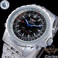 Wholesale men full steel watch men quartz analog digital waterproof relogio masculino casual watches men luxury brand SBW