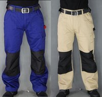 auto electricians - Mens work Pants safety Pants Military More Pockets Zipper Trousers Not easy to dirty Army Pants Electrician Auto Repair Workers