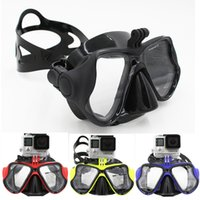 Wholesale 2016 New GoPro Accessories Swimming Goggles Tempered Dive Glasses Scuba Snorkel Diving Mask For Gopro SJ xiaomi yi Whole Series