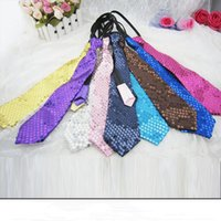 Wholesale Paillette sequined cloth tie new fashion personalized ties Halloween tie Christmas party performance stage chorus ties