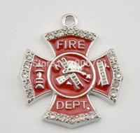 alloy department - New Arrival Zinc Alloy Antique Silver and Rhodium Plated fire department hand stamped ladder pendants decoration