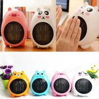 Wholesale Cartoon Mini Heater Fan Cat shape Best Gift Winter Hot Models Valentine Gift Free DHL With Holder Function Factory Direct