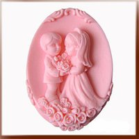 Wholesale new wedding rose lover gift soap Handmade soap silicone mold silica gel mould silicon candle moulds
