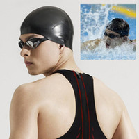 Wholesale 3 Colors Ear Protect Swimming Cap Men Women Adults Waterproof Latex Sports Siwm Pool Swimming Caps Hat Free Size