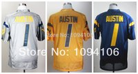 austin blue - Factory Outlet Cheap West Virginia Mountaineers Tavon Austin Blue Grey Gold Jersey Austin Ncaa College Authentic Football Jerseys