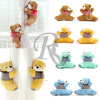 Wholesale 4 colors Pair New Arrival window curtain hook tieback cute bear Curtain buckle hangers belt