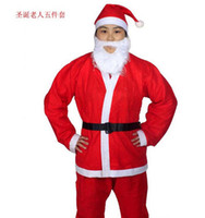Wholesale 2016 Christmas Santa Claus Costume Adults christamas suit adults Christmas Costume Christmas Party Costume for