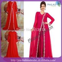 Cheap 2015 summer style hot party dress xxl plus sized Dubai New Style Abaya Dress V Nack Lace Long Sleeve Chiffon Kaftan Evening Dresses 92301