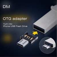 Wholesale New DM OTG adaptor OTG function Turn normal USB into Phone USB Flash Drive Mobile Phone Adapters