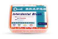 Interdental Brush - Oral Care Push Pull Interdental Brush Orthodontic Wire Toothbrush Imported Caliber MM box With