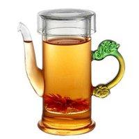 al por mayor temperatura té negro-Mayor-Libre del envío 220ml de vidrio Tea Pot, Negro Tea Pot, respetuoso del medio ambiente, resistencia a altas temperaturas