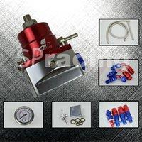 aeromotive fuel regulator - AEROMOTIVE style MGTE MKIII Fuel Pressure Regulator with hose line kits Fittings Gauge Red