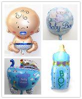 baby strollers for boys - baby boy FOIL ballon milk bottle balloon baby stroller balloons balao for newborn party baby shower balloons