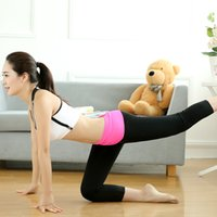 Wholesale Top Quality cropped Yoga Pants Women solid Fashion Pencil Pants Women Running Sports Leggings Joggers cropped Athletic Pants Free size