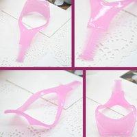 design plastic comb - Unique Design in Eyelash Comb Card Eyebrow Brush Mascara Applicator Curler Guide Makeup Cosmetic maquiagem JL HJ0216