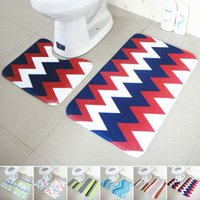 Wholesale Hot Sale Bathroom Toilet Floor Mats Set Non Slip Bathroom Toilet Rugs Water Absorption Bathroom Carpet JI0018