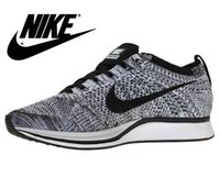 Wholesale On Sale Mens NIKE FLYKNIT RACER Running Shoes Factory Outlet for Men Balck Grey Blue Red Colors Size US7 US11