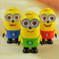 pencil sharpener - 2 Peice Minions Despicable Me Hand Pencil Sharpeners for kids Office School Stationery XH