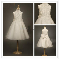 Cheap Reference Images 2015 girls dress Best Girl Lace flower girls dress