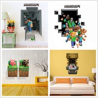 Wholesale 3D Minecraft Wall Stickers Creeper Removable Home Decorative Stickers Cartoon Wallpaper