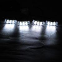 Wholesale 4x3 White LED LED Strobe Dash Emergency Flashing Warning Light for Car Truck
