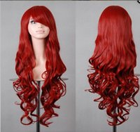 Wholesale 2016 Children s Day Big Discount Synthetic Hair Wig Inch Long Hair Body Curly Hair Wig Cheap Synthetic Hair Wig Cosplay Hair