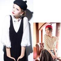 Wholesale Fashion Women Lady Girl Men Cat Ears Wool ladies girls wool cute cat ear hat beret color