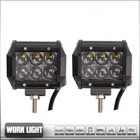 Wholesale 4 INch D W LED Work Light Bar JEEP Spot Flood Beam Fog Lamp V V LED IP67 OffRoad Driving Motorcycle Truck Fog