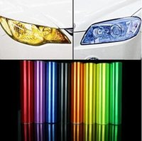 Wholesale 30cm m Auto Car Sticker Smoke Fog Light HeadLight Taillight Tint Vinyl Film Sheet all colors available car decoration decals