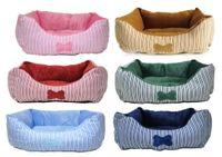 Wholesale 10pcs a bag fine vertical stripe dog bed colorful mini kennel cat litter pet litter
