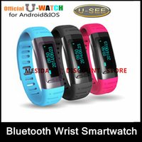Wholesale 2015New U Watch Bluetooth Smart U9 USee Wrist Smartwatch Pedometer Anti Lost For iPhone Samsung Smartphones Free DHL