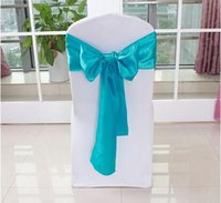 Cheap Free Shipping! 100PCS 11Colors Top quality Organza chair sashes for wedding party decoration