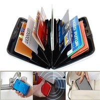 Credit Card gift box metal - Waterproof Business ID Credit Card Wallet Holder Aluminum Metal Pocket Case Box sales promotion gifts