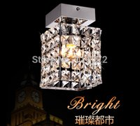 Cheap Wholesale-new flush mount square modern crystal chandelier hallway lights L150*w150*H200mm, fast Dhl  fedex shipping