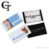 Wholesale custom logo brand name woven clothing labels tags customized clothes garment etiquetas main label tag for clothing labels A3