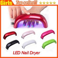 venda por atacado nail art machine-Mini-íris Nail Art lâmpada 9W LED Light PK lâmpada de diamante em forma de ponte de cura Secador de Nail Art Máquina de Cuidados Lâmpada para Gel UV cabo USB