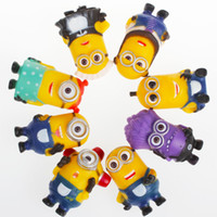 Wholesale Fashion Cartoon Despicable Me Minions PVC Toy D Eye Mini Moive Star Figure Toys Lovely Minion Kids Doll cm