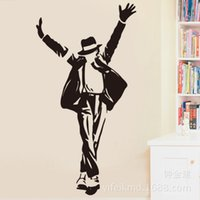 PVC best selling posters - Dancing Michael Jackson Wall Stickers Removable Vinyl wall Decor Wall decals Art Poster DIY Home Decor Best Selling
