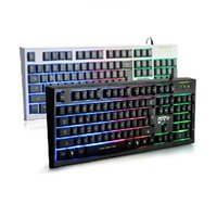 Wholesale Optical Colorful Light Emitting Waterproof Mute Gaming Usb Wired Computer Keyboard For COD LOL DOTA2