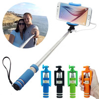 Wholesale Puscard Super Mini Selfie Stick Monopod for iPhone s s c Wired Selfi Palo Selfie Extendable Stick Holder for Smart Phone
