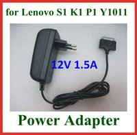 Wholesale 12V A W Power Adapter Supply for Lenovo IdeaPad A1 K1 S1 Y1011 Tablet PC Wall Charger EU US UK Plug