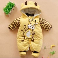 Wholesale Hot New Newborn One piece Baby Clothes Boy Clothes Romper Winter Outfits Beige TY1287