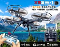achat en gros de hélicoptère rc quad-SYMA X5SW / X5SW-1 WIFI RC Drone Quadcopter avec FPV Caméra Headless 6-Axis Temps réel RC Hélicoptère Quad Jouets copter