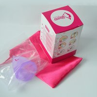 Wholesale Feminine Hygiene Product Medical Grade Silicone Menstrual Cup S L size DHL Fedex Free