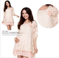 maternity clothes - New Maternity Clothes Stunning Half Sleeve Round Neck Maternity Dress Lace Dress DH04