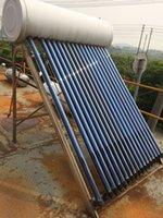 calentador de agua colector solar 200ltr presión compacta, tubo de calor sistema de calentamiento solar de agua del géiser solar para el hogar