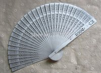 Wholesale I AM YOUR FANS Silver Fashion Elegant Assorted color Chinese wood wedding fan