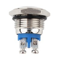 Wholesale 16mm Start Horn Button Momentary Stainless Steel Metal Push Button Switch low price