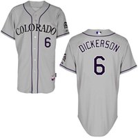 baseballs dickerson - Customized Colorado Rockies Mens Jerseys Corey Dickerson Gray Baseball Jersey
